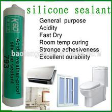 aquarium silicone sealant good adhesion acidic transparent sealant