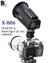2014 best seller American market Dison X-806 battery outdoor flash camera flash