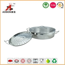 high quality stainless steel kitchen set with steamer