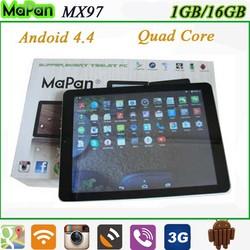 9.7 inch 3g dual sim phone tablet / mapan low price big screen quad core mobile phones