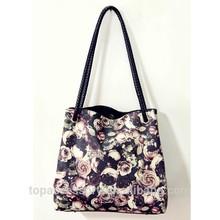 2015 china alibaba black floral handbag