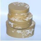 Fancy Large Round Decorative Cardboard Paper Hat Boxes Wholesale
