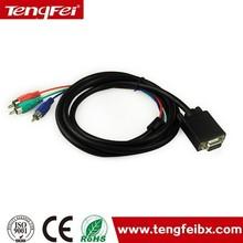 1.5 m VGA to AV + S terminal converter cable VGA to 3RCA cable
