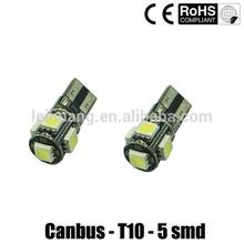 5SMD Canbus led w5w t10 canbus led Auto led bulb194 smd 5050