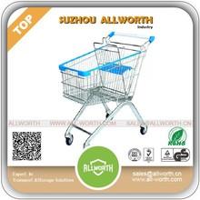 European Style electric folding supermarket shopping cart 60L