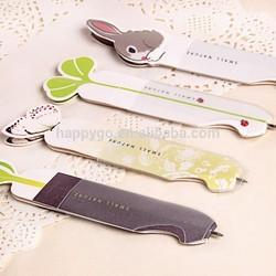 promotion animal shape bookmark ball pen