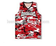 Unisex hot sale camouflage basketball shirt/camouflage basketball jersey names