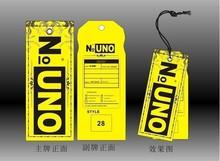 Popular design Custom printed paper garment clothing hang tag