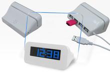 Electric colours changing decorative arts clock