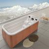 Big swim spa and hot sales fiberglass swimming pool