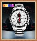 SKMEI Q009 Geneva Quartz Stainless Steel Watch With Water Proof For Men