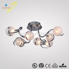 GZ20455-8C special little glass ball living room art ceiling chandelier lighting