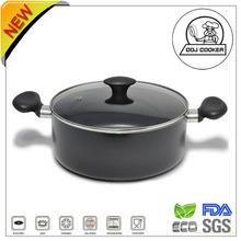 FDA/LFGB Pressed Ceramic/Marble Coating Non-stick Aluminum Sauce Pot with Lid