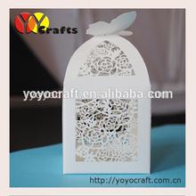 Luxury white rose favor box wedding decorations wholesale china wedding favors wholesale