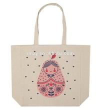 beige cotton tote eco reusable shopping bag