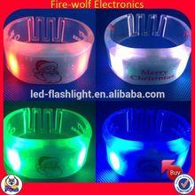 Plastic Flashing Sound Activated Led Bracelet/Remote Controlled Bracelets For Event
