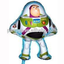 Buzz globo de dibujos animados en forma de Buzz lightyear globo de la hoja caliente de la venta de mylar fuentes del partido del globo globos