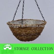 natural rattan wrought iron hanging flower baskets