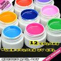 Unhas de gel uv kit #20200w gdcoco 12 5ml cores de cola de cura uv