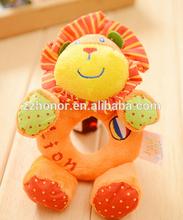 Carter's handbell, lovely baby lion handbell, cute color wrist rattle