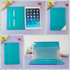 Fashion business pu leather case for ipad air 2 case new arrival blue skin tablet cover for ipad mini case card slot wholesale