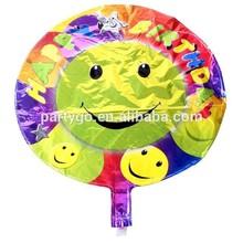 """Hot 18 """" cara de la sonrisa globos y Foil globos globos de cumpleaños decoración"""