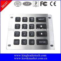 4x4 industrial illuminated metal keypad