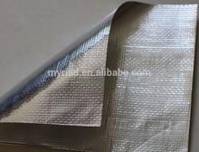 Aluminum Foil Woven Fabric Cloth/aluminium foil laminated pe woven fabric