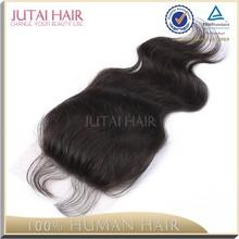 Qingdao cheap raw unprocessed free parting virgin brazilian human hair closure