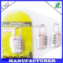 2015 travel accessories Big padlock seal TSA reset luggage combination lock containers tsa combination lock