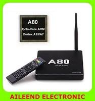 CSQ8 4G/32G 802.11ac 2.4G/5GHz WiFi 4K*2K H.265 SATA Smart TV Linux RJ45/DLNA/Miracast,A80 Octa Core Android TV BoX