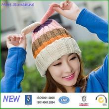 Factory wholesale winter warm cat ear knitted hat