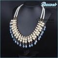 Últimas mujeres accesorios de la joyería de moda caliente de china venta al por mayor de agua dulce collar de perlas