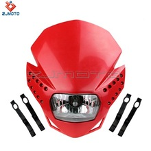 Red Racing Motorcycle Headlight Fairing Streetfighter Enduro Cross Universal CRF