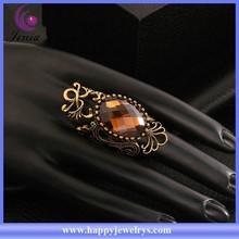Latest design brown crystal women ring fashion new model wedding ring KFSR020-D)