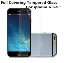 Wholesale 0.4mm 0.33mm 0.26mm 2.5D 9H Full Size Full Screen Covered Tempered Glass For iphone 6 6Plus 4.7 5.5