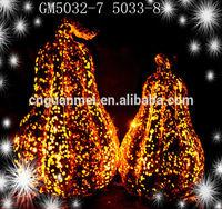 Hot Sale Latest Shiny Design LED Artificial Pumpkins for Sale
