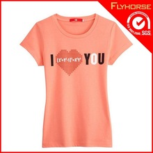 high quality popular woman pink t shirt