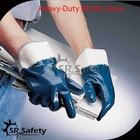 SRSAFETY Smooth nitrile safety glove/oil and gas industry gloves