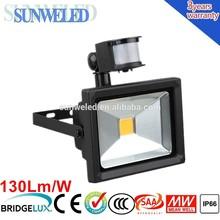 European Market Energy Saving High Power Black LED PIR Flood Light 10w 20w 30w 50w 70w 100w with CE SAA IEC IP65