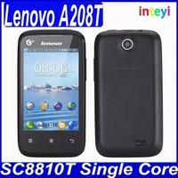 Cheap Original Lenovo A208T 100% New Original GSM+TD-SCDMA 3G Android 2.3 Smart Phone 3.5 inch Lenovo A208t China Brand Phone