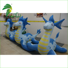 2015 hot sale inflatable luck Sea dragon cartoon character for kids
