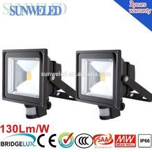 30W High Power Cool White Security PIR Sensor LED Flood Light 10w 20w 30w 50w 70w 100w with IES IP65 CE SAA