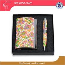 Asia Flower Pattern Pen Business Gift Set