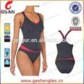 nuevo diseño de la sublimación impreso personalizado trajes de baño de fitness