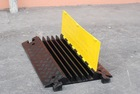 Ultra-portable 5-Channel Heavy Duty Rubber Cable Ramp