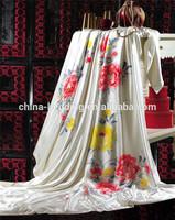 16mm Jacquard Ivory 100% Handmade Silk Comforter