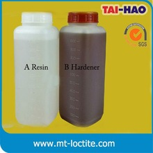 raw material two component polyurethane resin glue transparent polyester resin
