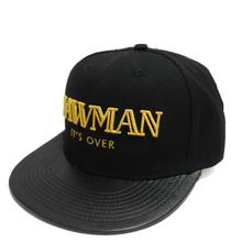 Custom flat leather brim run dmc snapback cap flat brim cap