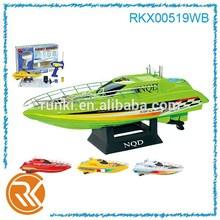 1:38 plastic mini rc ship, rc plastic boat toy